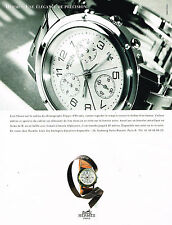 PUBLICITE ADVERTISING 124  1997  HERMES  collection montre CHRONOGRAPH CLIPPER
