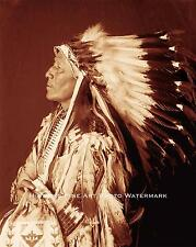 SIOUX INDIAN CHIEF STRANGE HORSE VINTAGE PHOTO NATIVE AMERICAN 1889 8x10 #21659
