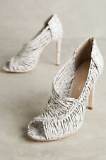 "NEW in Box ANTHROPOLOGIE ""Guilhermina Tatienne Braided Heels"" sz. 8 US / 38 EU"