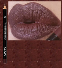 NYX SLIM LIP PENCIL~ LINER ~ HOT COCOA ~ DEEP DARK BROWN ~ BN