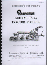 "Ransomes ""Motrac TS. 43"" Trailed Plough Instruction and Parts Book"