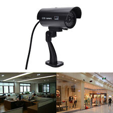 Quality Dummy Fake Outdoor Indoor Security Camera Night Blinking LED BLACK GVUS