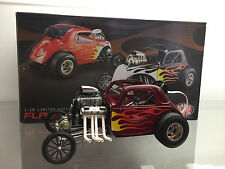 1/18 FLAME ALTERED FIAT ALTERED NHRA CANDY RED TOM GARAGE 1 OF 225 BY ACME