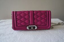 AUTH Rebecca Minkoff Purse Quilted Leather mini Love Crossbody Clutch Wallet Bag