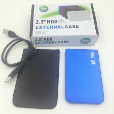 "New 80GB 80 GB External Portable 2.5"" USB 2.0 Hard Drive HDD POCKET SIZE BLUE"