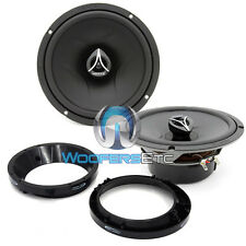 "pkg HERTZ ECX-165.5 6.5"" 210W 2-WAY COAXIAL SPEAKERS + 6.5"" ADAPTER RINGS NEW"