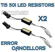 2x T15 501 W5W RESISTENZE NO CANBUS Errore LED Luce Laterale Lampadina REVERSE RESISTENZE