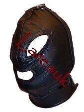 De Lujo De Cuero gótico Capucha Con Anillo hl-30-leather, Entrega UK LIBRE