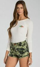 2015 NWT WOMEN BILLABONG PEACE NOT WAR SHORT $50 27 camo cut off label 4 pockets