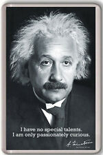 ALBERT EINSTEIN CURIOSITY FRIDGE MAGNET IMAN NEVERA
