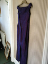 NEW DESIGNER 100% SILK PURPLE BRIDESMAID DRESS- PIPPA MIDDLETON STYLE- SIZE10/12