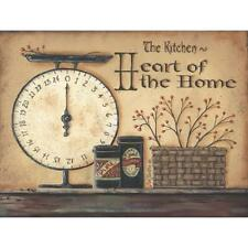 """Country Art Print - """"'The Kitchen Heart of the Home"""" - Wall Home Decor Picture"""