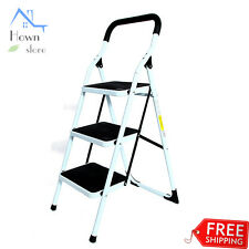 Stool Folding Portable Ladder 3 Step Stair Family Platform Home Indoor Outdoor