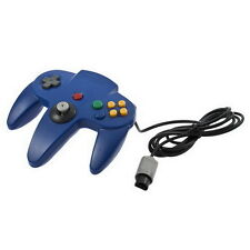 Game Controller Joystick for Nintendo 64 N64 System Deep Blue Pad Mario Kart LY