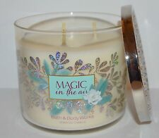 BATH BODY WORKS MAGIC IN THE AIR SCENTED CANDLE 3 WICK 14.5OZ LARGE IRIS VANILLA