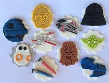 10 edible STAR WARS inspired CUPCAKE topper DECORATION cake SHIP darth yoda
