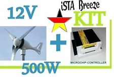 KIT Offer ISTA-BREEZE® 12V i-500 Small WIND GENERATOR + Charge Controller