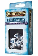Q-workshop 7 Dice Set of White & Blue Pathfinder RPG Reign of Winter SPAT28