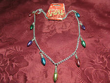 """Multi-Colored Light Bulbs Christmas Holiday Necklace 24"""""""