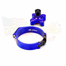 LAUNCH CONTROL BLOCCO FORCELLA MOTO CROSS MOTARD UNIVERSALE KTM 58.4mm BLU