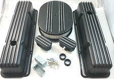 Nostalgic SB Chevy SBC Short Black Finned Engine Dress Up Kit 283 327 350 59-86