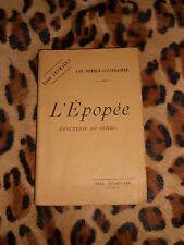 L'EPOPEE (évolution du genre) - Léon Levrault - Delaplane