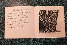 Carte de remerciements avec gravure Harmonie d'Hélène Csech 2002