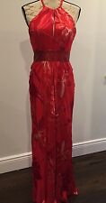 Renato Nucci Ladies Silk Red Evening Gown Euro 38 US 6 Made In France!!