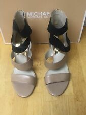 Michael Kors Codie Open Toe Nude Leather Size 7