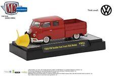 M2 Machines Auto Thentics Release VW04 1:64 1959 VW Double Cab Truck w/Snow Plow