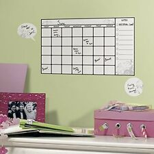 ROOMMATES RMK1556SCS Dry Erase Calendar Peel and Stick Wall Decal , New, Free Sh