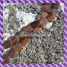 1 Draht von 26 perlen aus horn Puck Oblique 14 x 15 mm