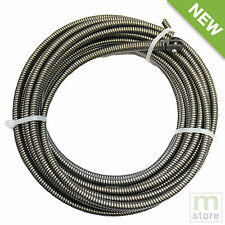 "100 Ft Drain Auger Cable Replacement 3/8"" Music Wire Snake Clog Pipe Cleaner"