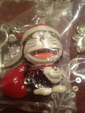 Hello Kitty Cute Cat Swarovski Crystal Purple Free Shipp Usa