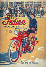 Art Deco - Indian Motorcycle 1916 - A3 Art Poster Print