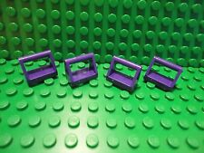 Lego 4 Dark Purple 1x2 plate tile with handle NEW
