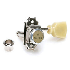 Gotoh SD90-MG-T Magnum Lock Kluson Style Locking Tuners for Gibson 3x3 - NICKEL