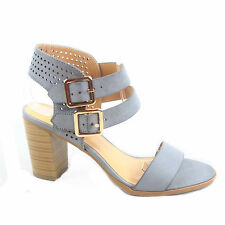 Women's Buckle Open Toe Ankle Strap Chunky Heels Sandals Shoes Size 5.5 - 11 NEW