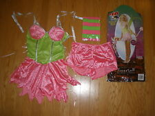 NEW WOMENS 4PC SUPER SEXY NAUGHTY TINKERBELL HALLOWEEN COSTUME SIZE MEDIUM 8-10