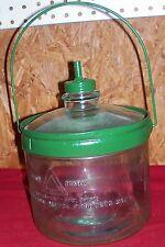 Antique Glass Kerosene Jug Bottle Old Vintage Stove Cleveland Metal Products Co