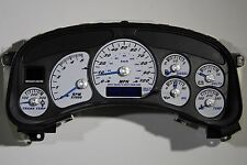 99½ - 02 GM HD2500 SILVERADO DURAMAX DIESEL WHITE GAUGE FACE CLUSTER *EXCHANGE*