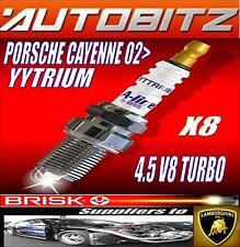 FITS PORSCHE CAYENNE 4.5 TURBO BRISK SPARK PLUGS X8 YYTRIUM