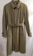 SANYO Japan 44 L Trench Coat Dark Taupe Button-Front Removable Liner