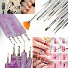 20X Nail Art Tips Polish Painting Dotting Pen Brushes Design Decor Tools Set Kit