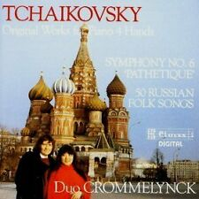 Tchaikovsky Original Works For Piano 4 hands Duo Crommelynck RAR!  Neu