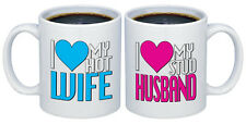 I Love my Hot Wife - Stud Husband Valentines Gifts for Couples Coffee Mugs MC111