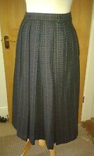 Genuine Burberrys Vintage Pure Wool Blue Skirt Size 10  Never Been Worn!