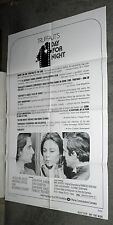 DAY FOR NIGHT orig one sheet movie poster JACQUELINE BISSET/FRANCOIS TRUFFAUT