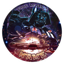 """STAR WARS Personalised Edible Icing Birthday Party Decoration Cake Topper 7.0"""""""