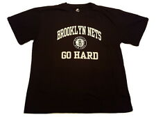 Majestic Brooklyn Nets Big and Tall 2XL T-Shirt Go Hard Logo NBA Apparel